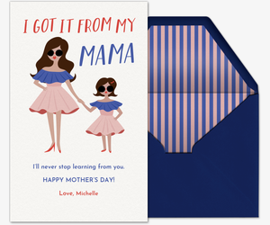 Twinning Mothers Day Invitation