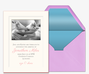 Classic Beauty Invitation