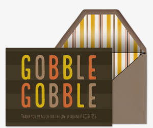 Gobble Gobble Card Invitation