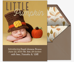 Little Pumpkin Copy Invitation