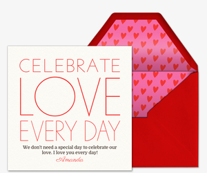 Love Everyday Invitation
