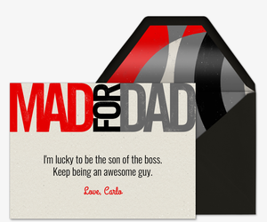 Mad for Dad  Invitation