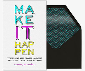 Make it Happen Invitation