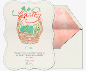 Mint Easter Basket Invitation