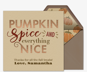 Nice Pumpkin Spice Invitation