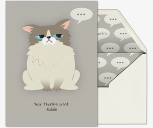 Pet Angry Cat Invitation