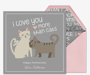 Pet Cat Love Invitation