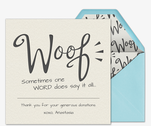 Pet Dog Woof  Invitation