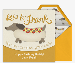 Pet Frank Dog Invitation