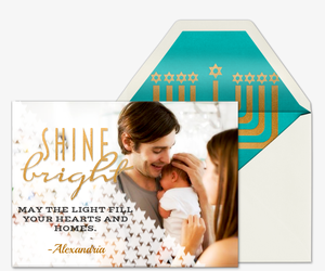 Shine Bright Photo Invitation