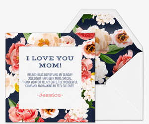 Victorian Floral Card Invitation