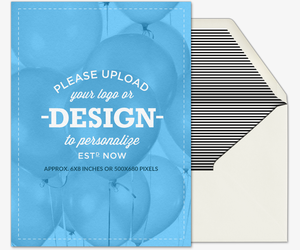 Upload Your Design Portrait Invitation