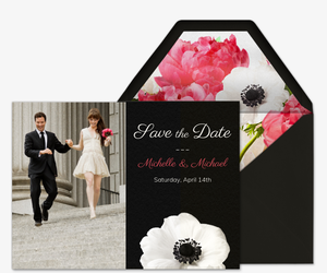 Love Blooms Photo Invitation