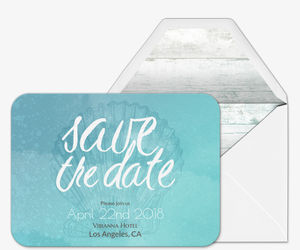 Something Blue Save the Date Invitation