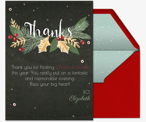 holiday thank you free online invitations