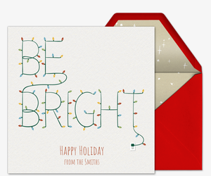 Be Bright Lights Invitation