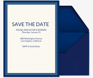 Blue Border Invitation