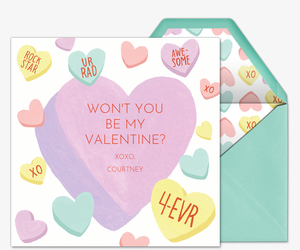 Candy Heart Crush Invitation