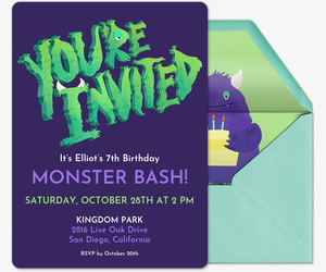 Cake Monster Invitation