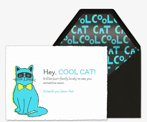 Cool Cat Invitation