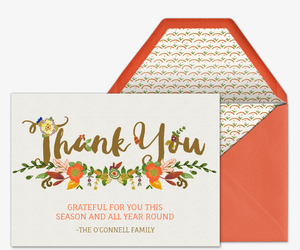 thanksgiving thank you free online invitations