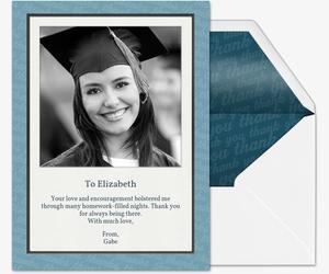 graduate gratitude invitation