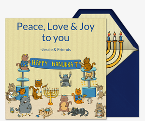 Happy Hanukkat Invitation