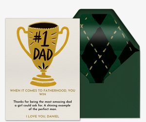 Trophy Dad Invitation