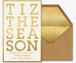 Tiz The Season Invitation
