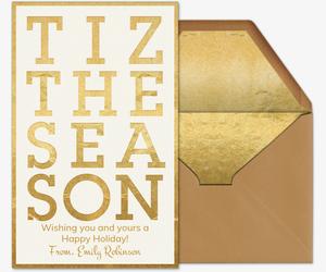tiz the season invitation - Holiday Cards Online
