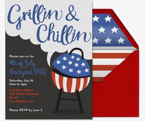 Free Fourth of July Party Invitations Evitecom