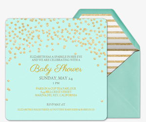 Free baby shower invitations evite baby sparkle invitation filmwisefo