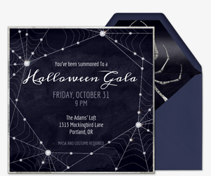 Online halloween costume party invitations evite glittergeist invitation stopboris Gallery