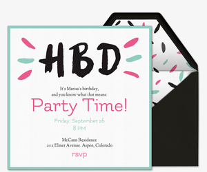 Free online birthday invitations for teens evite hbd invitation filmwisefo
