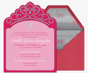 Invitaciones personalizables gratuitas de quinceaera quinceaera invitation stopboris Choice Image