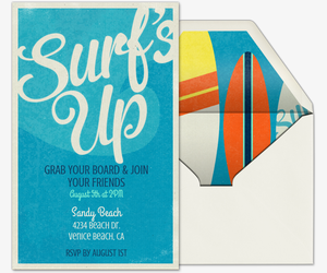 Surf's Up Invitation