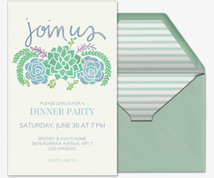Succulents Join Us Invitation