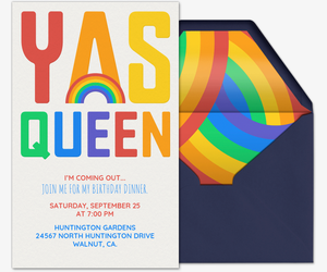 Yas Queen Invitation