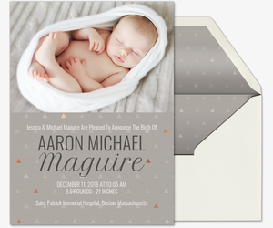 Baby Triangles Invitation
