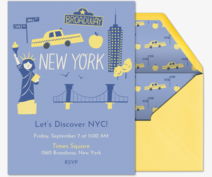 New York Invite Invitation