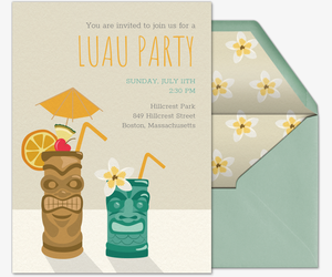 Beach Tiki Time Invitation