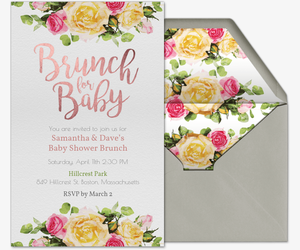 Free baby shower invitations evite brunch for baby invitation filmwisefo