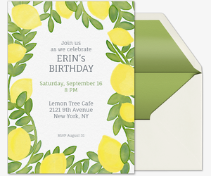 Lemon Laurel Invitation