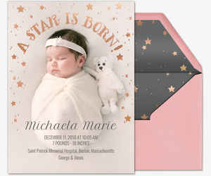 A Star is Born Invitation