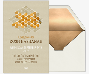 Honeycomb Religious Invitation