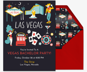 free online bachelor party invitation with rsvp evite