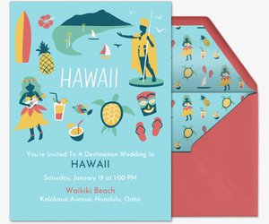 Hawaii Invite Invitation