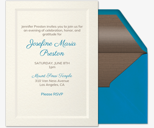 Simple Elegance Invitation