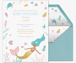 Under the Sea Princess Invitation
