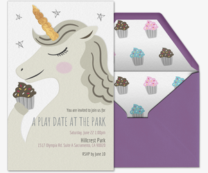 Unicorn Invite Invitation